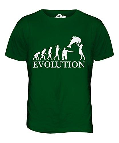 CandyMix Aquarium Evolution Des Menschen Herren T Shirt Flaschengrün
