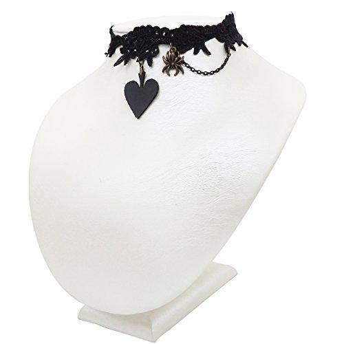 alsband Vampire Retro Königin Spinne Schwarze Spitze Kostüm mit Zubehör (Süße Vampir Kostüm)