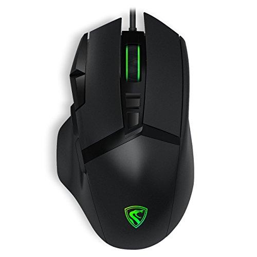 RGB LED Gaming Maus schnurgebunden  Ergonomische Spiel Computer Mäuse mit 9Tasten für PC, Gamer (Spitze Schnurgebundenes)