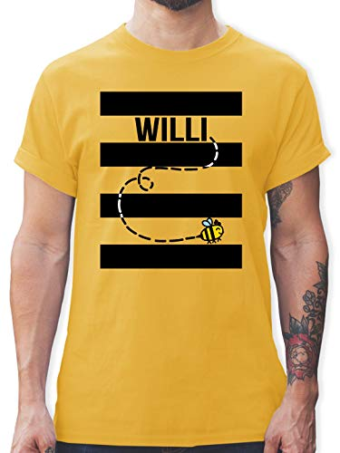 Karneval & Fasching - Bienen Kostüm Willi - XL - Gelb - L190 - Tshirt Herren und Männer T-Shirts