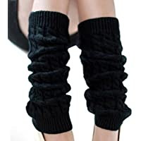 Winter Fashion Leg Warmers Stocking Knit Thick Long Socks For Lady Women Ladies Knit Crochet Legging Best Xmas Gift