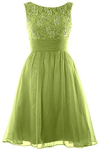 MACloth - Robe - Trapèze - Sans Manche - Femme Vert olive