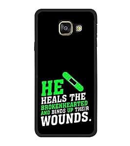 FUSON Healing Broken Heart Wounds Designer Back Case Cover for Samsung Galaxy A7 (6) 2016 :: Samsung Galaxy A7 2016 Duos :: Samsung Galaxy A7 2016 A710F A710M A710Fd A7100 A710Y :: Samsung Galaxy A7 A710 2016 Edition
