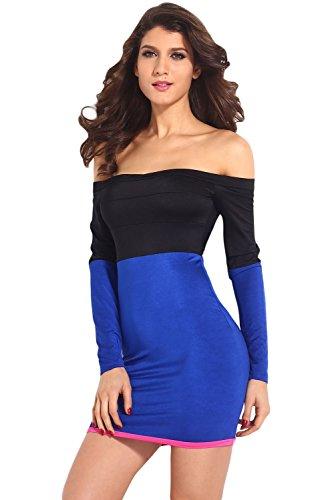 E-Girl femme Bleu Noir SY21097L mini robe Bleu Noir