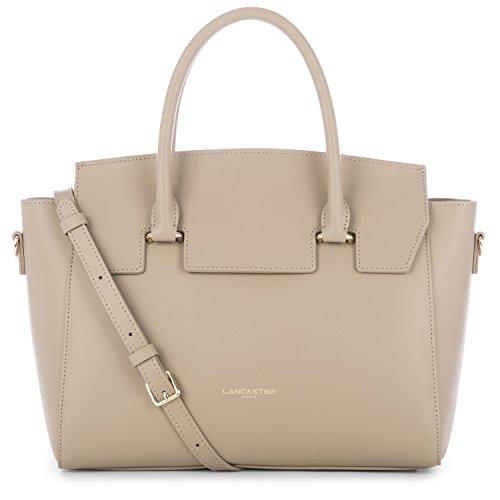 lancaster-paris-mujer-52840stone-gris-cuero-bolso-de-mano