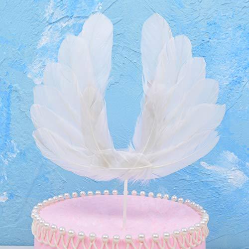 Material: plumas. Artesanía: hecho a mano. Personalización de procesamiento: no. Accesorios para decoración de tartas. Número de producto: pluma grande. Si la fuente patentada: No Tamaño: alas blancas grandes. Alas rosas. Alas negras grandes. Tamaño:...