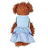 T.boys Kleine Pet Hund Kleidung Kleid Sommer Atmungsaktiv Katze Kleidung,Dünn und leicht Haustier KleidHund Kostüme Haustier Katzen Kleidung