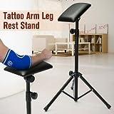 SLB Works Brand New Adjustable Height Tattoo Tripod Stand Arm Bar Rest Studio Chair Legrest Sponge