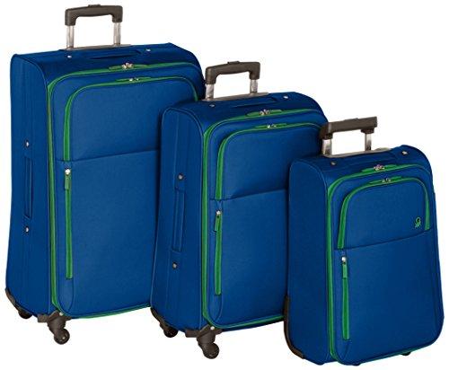 Benetton Lote de 3 Maletas Con Ruedas UNDERSCORE_58073313_AZUL 18 L