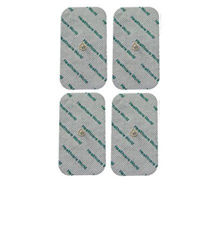 Large Tens Pads With Stud Tens Electrodes For Beurer Sanitas Tens Machines Set of 4 by Healthcare World