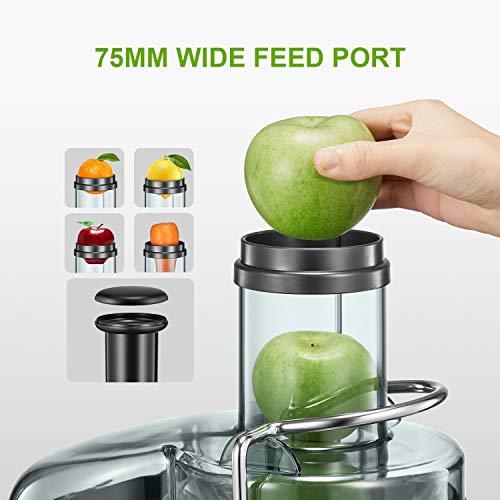 Zentrifugenentsafter 800W für Obst und Gemüse Bild 3*