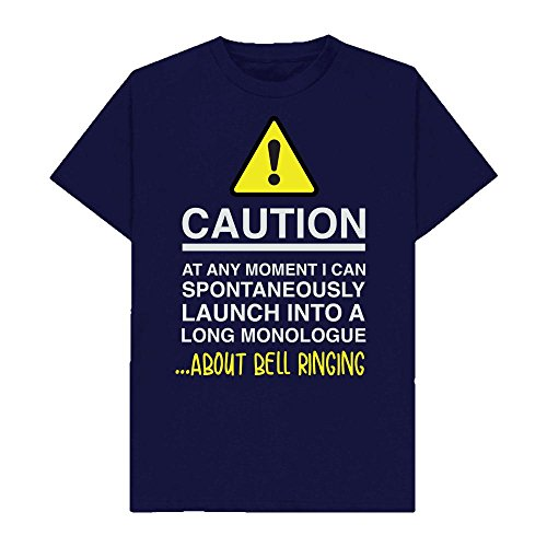 Caution - at Any Moment I Can Monologue About. Bell Ringing - Hobbies - Tshirt - Shaw T-Shirts - Sizes Small to 2XL