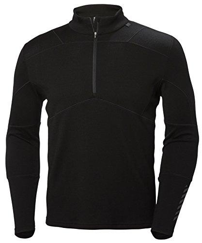 Helly hansen hh lifa merino 1/2 zip, maglia termica per uomo, abbigliamento sportivo isolante adatto per sci, escursionismo e trekking, base layer con mezza zip a maniche lunghe