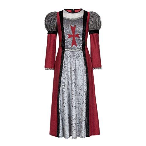 üm Edeldame Burgfrau Kostüm Mittelalter für Kinder Mädchen Größe 152 (Edel-ritter-kostüm)