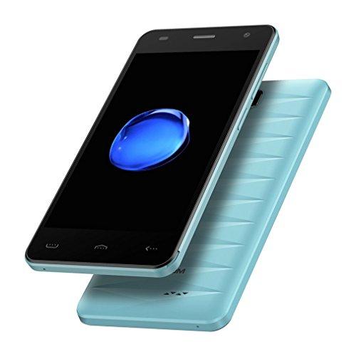 Smartphone Débloqué 4G HOMTOM HT26 Téléphone Portable Pas Cher (Ecran: 4.5 Pouce HD, 1 Go RAM + 8 Go ROM, MTK6737 Quad Core 1.3GHz, Double SIM, Caméras 5MP + 2MP, OTA GPS WIFI, Android 7.0) Bleu