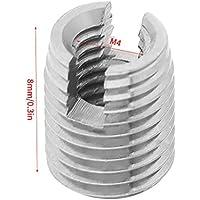 20pcs selbstschneidende Schlitzschraube Metall Gewindeeinsatz Muttern für schraubenförmige Reparatur M4 x 8mm Set