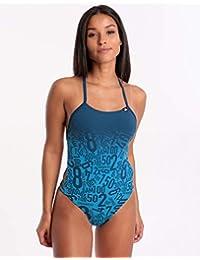 d19d442b447c adidas PRO Ebs Costume da Bagno da Donna, Donna, DQ3292, Shock Cyan,