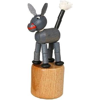 Wackeltier Wackelfigur Seiffen Erzgebirge Esel Spielzeug 105//011 NEU