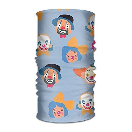 RAINNY Headwear Headband Jokers And Clowns Head Scarf Wrap Sweatband Sport Headscarves For Men Women Flex Neck Light