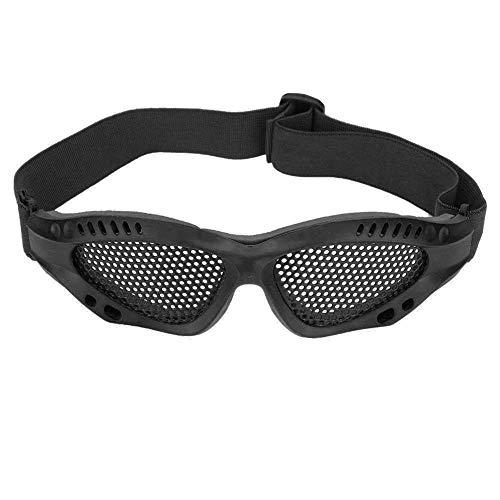 Tbest Airsoft Taktische Schutzbrille Airsoft Mesh Brille Schutz einstellbare Metall Mesh Brille Airsoft Augenschutzbrille mit verstellbarem Gurt für taktisches Militär CS Game Shooting(Schwarz) - Tan Gurt