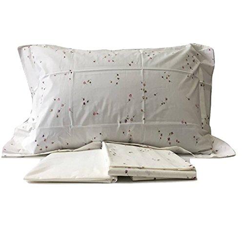 Zucchi coppia lenzuola 2 piazze in percalle di puro cotone cotton algodòn baumwolle articolo ginny col avorio 8 mis 240 x 280