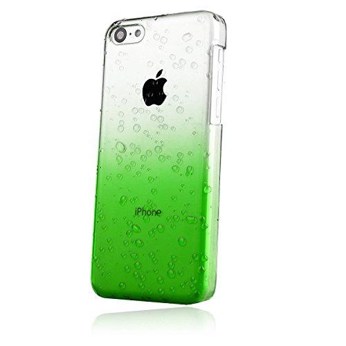 EnGive Housse Coque en Plastique Dur iPhone 5C,Translucide couleur de dégradé housse étui rigide pour Apple iPhone 5C 2013 (Vert) Vert