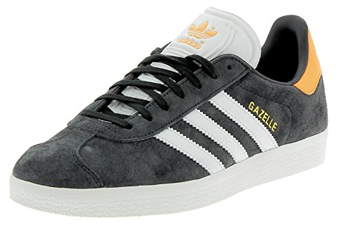 adidas Gazelle, Sneakers Basses Homme Gris (Carbon/footwear White/real Gold)