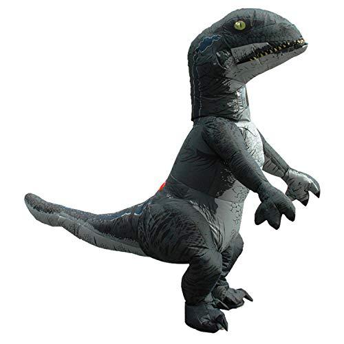 LOVEPET Aufblasbare Dinosaurier Halloween Kostüm Raptor Kostüm Cartoon Puppe Requisiten Erwachsene Cosplay (Raptor-kostüm)