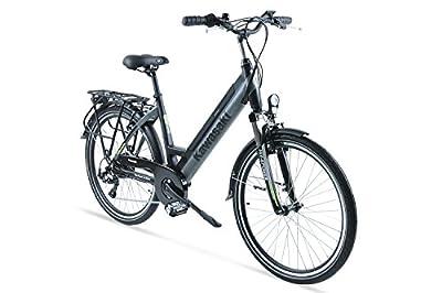 Kawasaki XciteRC Trekking Elektrofahrrad, schwarz-Silber, 51 cm