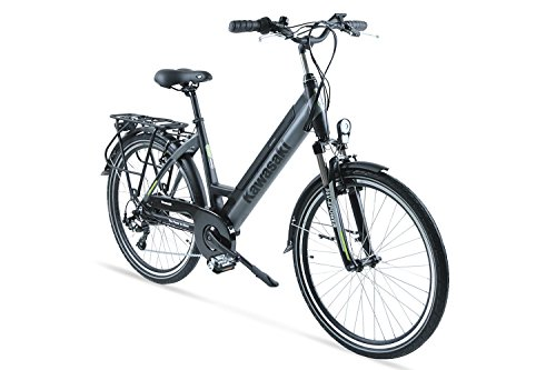 Kawasaki XciteRC Trekking Elektrofahrrad, schwarz-Silber, 46 cm