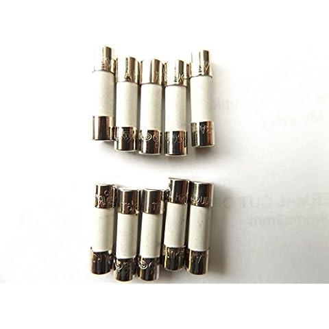 Fusible 6,3A 20mm HBC antisurge/retardo de tiempo T6.3A H 250V cerámica x10Pcs