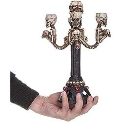 Dengofng - Candelabro Halloween decorativo, de 5 brazos