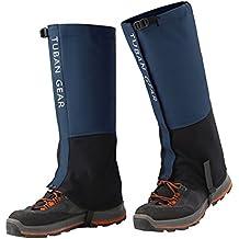 SPAHER Polainas Impermeable al Aire Libre y Polainas Prueba de Viento Guardia de Protección para Las Piernas Senderismo Esquí Escalada Azul