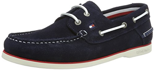 Tommy Hilfiger K2285not 1b, Men's Boat Shoes, Blue (Midnight 403), 9 UK (43 EU)