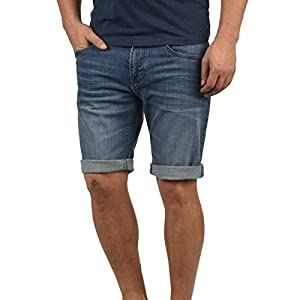 Indicode Quentin Herren Jeans Shorts Kurze Denim Hose Mit Destroyed-Optik Aus Stretch-Material Regular Fit