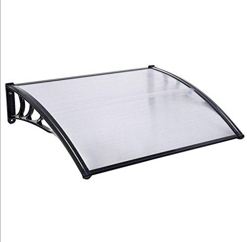 Preisvergleich Produktbild Tür Vordach Shelter Front Rückseite Veranda Outdoor Schatten Terrasse Cover 80x 120cm schwarz