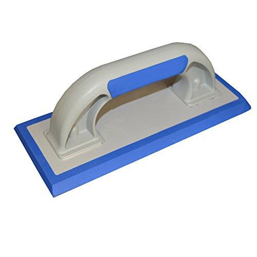 DEWEPRO® Fliesen Fugbrett mit 6mm Spezialbelag (Feingummi, abgeschrägt) für Epoxid-Fugmasse u. Naturstein - 240x95mm - Ausfugbrett - Zementverfugung - Epoxidfugbrett