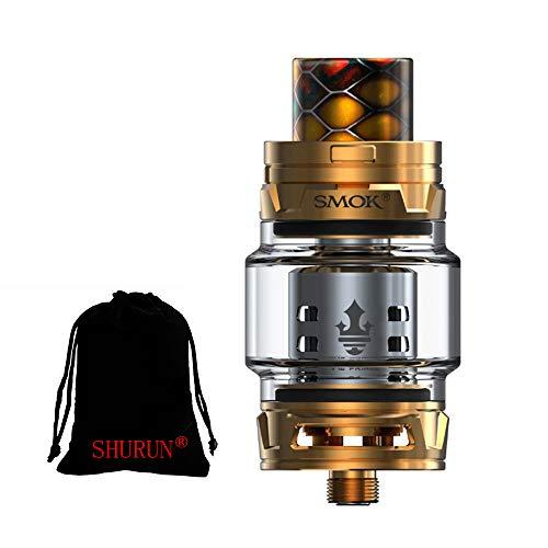 Original Smok TFV12 Prince Tank 8ml Capacity mit TFV12 Prince Coils ohne Nikotin inklusive SHURUN Aufbewahrungstasche (Gold)