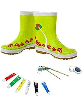 Kit de botas de agua para niños que se pueden pintar, pinta tus botas con colores borrables de calidad