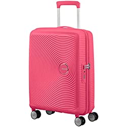 American Tourister Soundbox - Spinner Small Expandable Equipaje de Mano, 55 cm, 41 Liters, Rosa (Hot Pink)