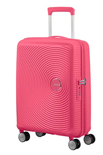 American tourister soundbox spinner small expandable bagaglio a mano, rosa (hot pink), spinner s (55 cm - 41 l)