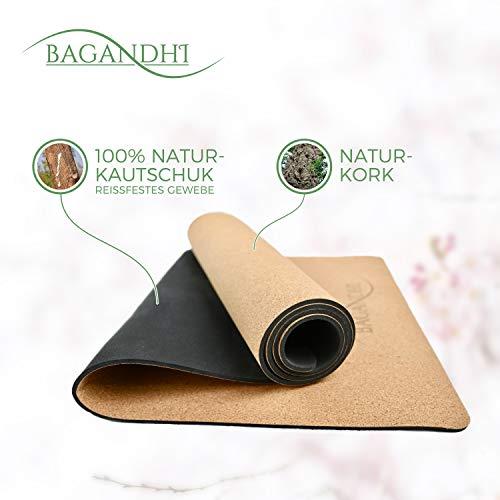 FAIRER PREIS FÜR EIN FAIRES PRODUKT! RUTSCHFESTE Yogamatte aus 100% KORK und NATUR-KAUTSCHUK. Nachhaltige BIO-SPORTMATTE aus hochwertigem NATUR-MATERIAL. Die Verpackung wird ohne Plastik geliefert!