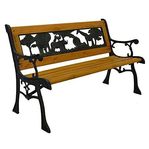 Junior Safari Metal Park Bench Cast Iron Kids Park Bench for Yard or Garden Product SKU: PB10014
