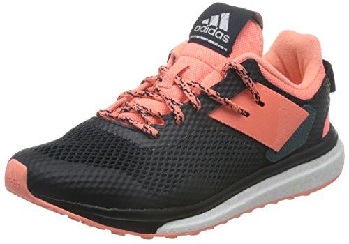 adidas Damen Response 3 W Laufschuhe, Schwarz (Core Black/Sun Glow/Tech Green), 39 1/3 EU