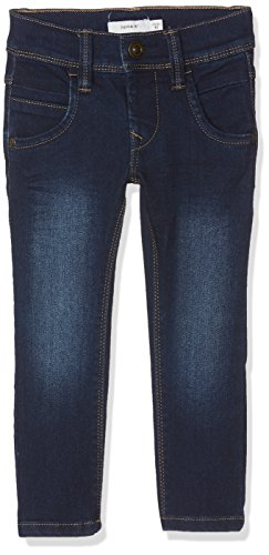 NAME IT Jungen Jeans Nittax Slim/Xsl Dnm Pant Nmt Noos, Blau (Dark Blue Denim), 140 (Blaue Kinder-jeans)