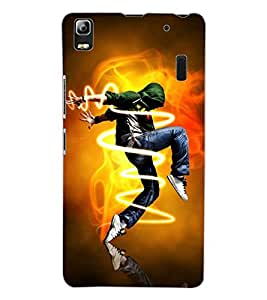 ColourCraft Dance Freak Design Back Case Cover for LENOVO A7000 PLUS