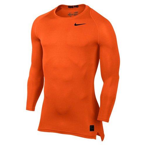 Nike M NP Top Comp Ls CRW Shirt, Herren Sicherheitsorange/Sicherheitsorange