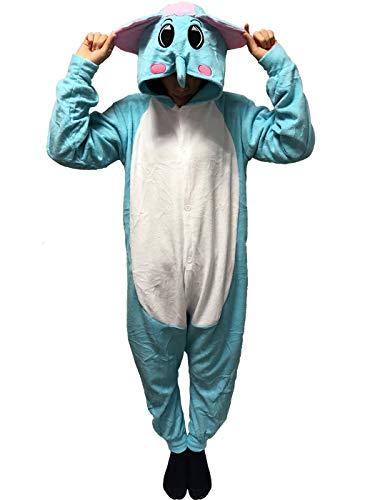 esie Pyjama Elefant Kostüme Kigurumi Schlafanzug Erwachsene Unisex Halloween tierkostüme Jumpsuit ()