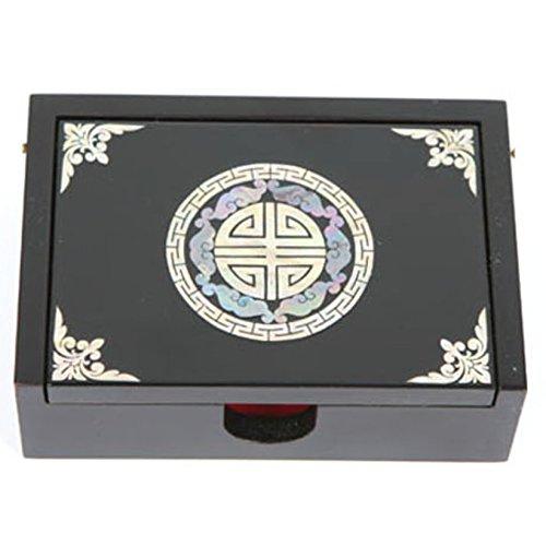 Boîte à bijoux, boîte à bijoux en bois fait main. Mère de perle Gif. sangkamsu