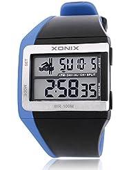 Relojes hombres/multifunción, LED, impermeable, piscina, reloj electrónico de chicos de sports-b